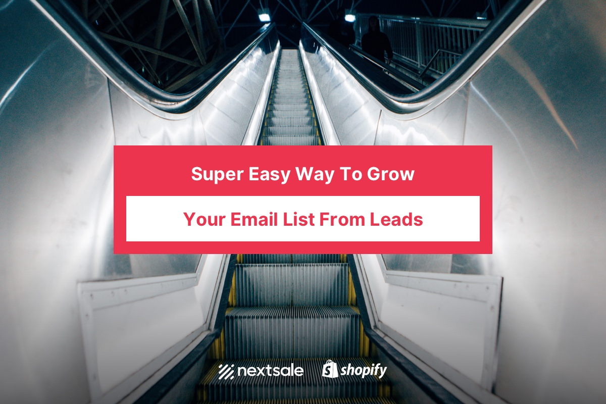 Super Easy Way To Grow Your Email List From Leads