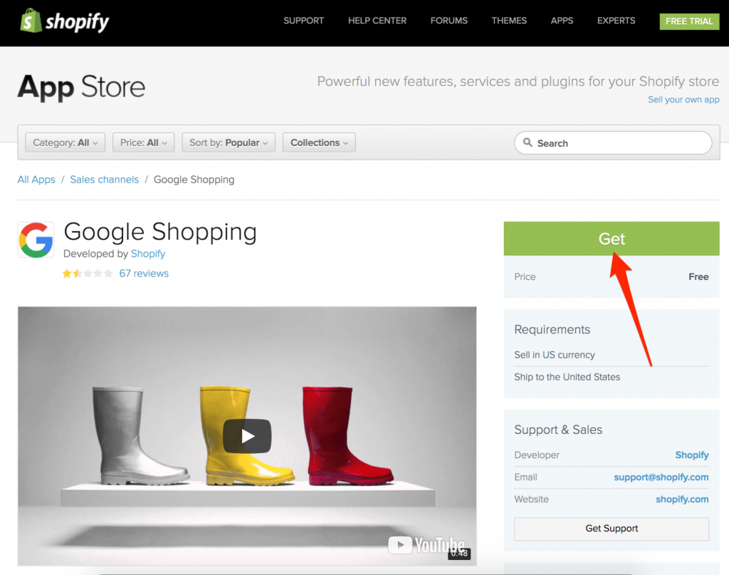 Google Shopping apps with Shopify store