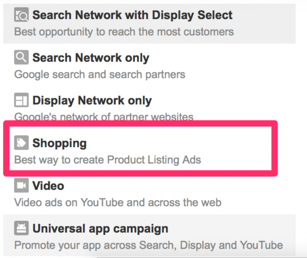 Create shopping ads