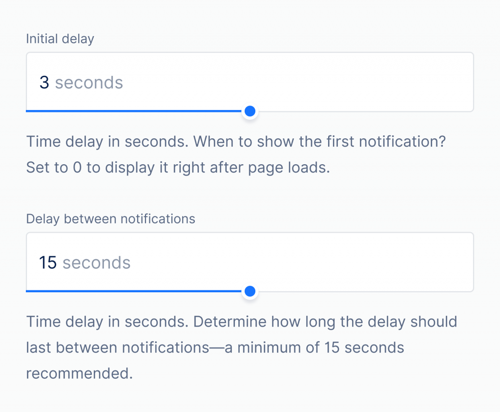 set time delays for popups