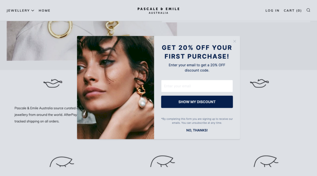 email Popup ideas