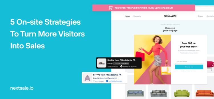 How to convert first time visitors?