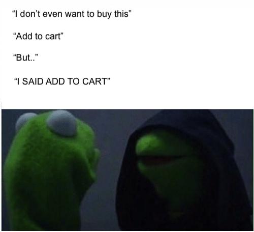 add to cart meme